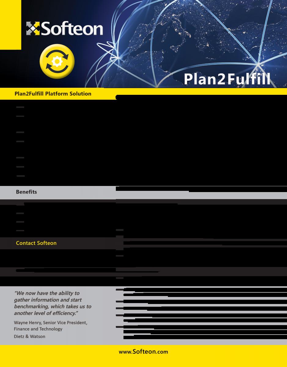 Plan-to-Fulfill (P2F)   Softeon